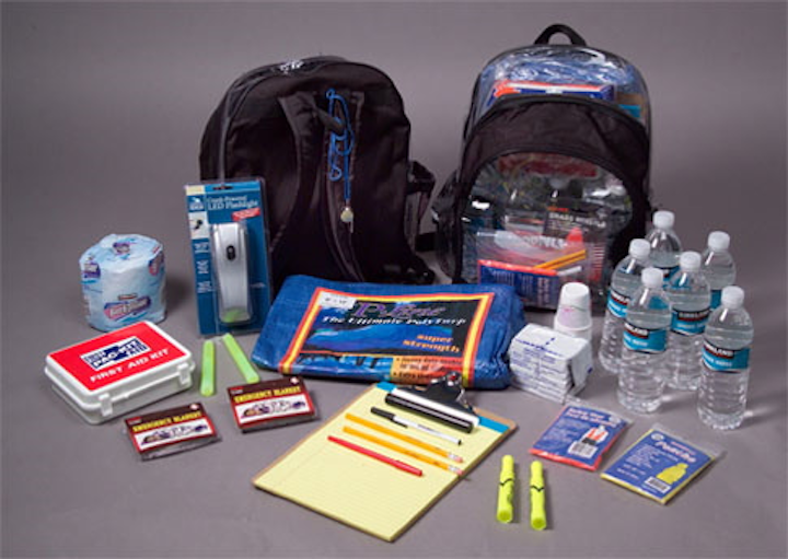 Many schools today keep backpacks outfitted with a variety of supplies stored in classrooms in the event of an active shooter or other emergency event.